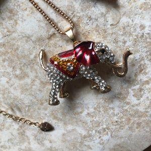 [NWOT] Betsey Johnson Circus Elephant Necklace